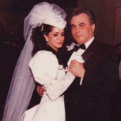 Wedding Day for a mafia princess. Victoria Gotti & Dad