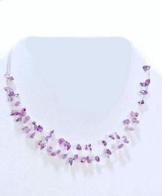 Birthstone Fine Genuine Natural Amethyst Illusions Necklace Solid .925 Silver  #JCPenney #BirthstoneStatement
