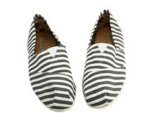Cheap Toms Shoes Sale Classic Grey Striped in White. @Chen Begonia is this for real? So cheap!