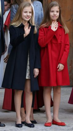 Royal Sisters... Princess Leonor of Spain and Princess Sofia of Spain... Daughter to King Felipe of Spain and Queen Letizia of Spain ... April 16, 2017