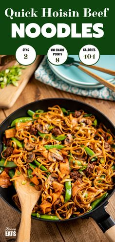 Quick Hoisin Beef Noodle Stir Fry - a perfect family meal ready in less than 30 minutes.Slimming World and Weight Watchers friendly fry recipe slimming world Quick Hoisin Beef Noodle Stir Fry Slimming World Stir Fry, Easy Slimming World Recipes, Slimming Eats, Slimming World Noodles, Slimming Word, Slimming World Dinners, Slow Cooker Recipes Cheap, Slow Cooker Sausage Recipes, Beef Recipes