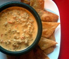 Beefy Rotel Cheese Dip 1 lb Velveeta 1 can Rotel tomatoes and chilies 1/2 cup sour cream 1 cup prepared taco or chili flavored ground beef In microwave safe bowl, add cheese and Rotel tomatoes. Nu…