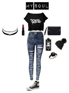 """""""BLACK LIKE MY SOLE"""" by calumkitty123 on Polyvore featuring Converse, Valfré, Pomellato, Charlotte Russe and Smashbox"""