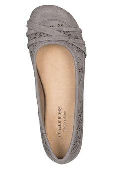 kimber wide width comfort ballet flat in gray