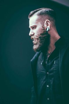 Dominik Berberich shot by Tom Cairns Photography from Scotland for Beardbrand. Beard Styles For Men, Hair And Beard Styles, Hair Styles, Great Beards, Awesome Beards, Moustaches, Beard Look, Epic Beard, Long Beards