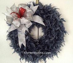 Dark Silver Christmas Wreath by thewreaths.com