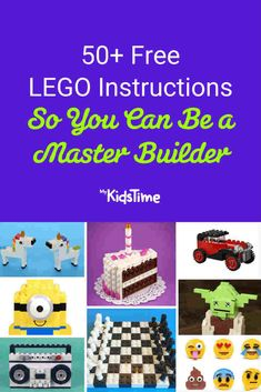 50+ Free LEGO Instructions: Learn How To Be a Master Builder! Lego Creations Instructions, Easy Lego Creations, Lego Girls, Lego For Kids, Boys, Lego Super Mario, Lego Mosaic, Lego Activities, Free Lego