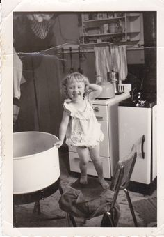 Bath Time! *Probably one of my all time favorite photos! So happy it's of my mom and that I have it!!
