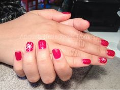 Red christmas gift nails