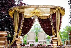 Indian Wedding Mandap Ceremony Gold In Princeton NJ By Tara Sharma Photography