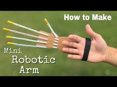 How to Make a Mini Robotic Arm at Home out of Drinking Straws and Cardboard - YouTube