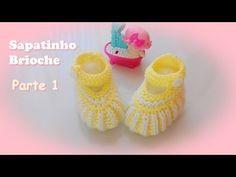Receita: Sapatinho Brioche em tricô » Tricotando Crochê