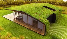 Amazing Homes with Grass Roof Designs The roof of your house can actually be something to get excited about. Here are 20 amazing homes with grass roof designs. Green Architecture, Sustainable Architecture, Architecture Design, Floating Architecture, Living Roofs, Container House Design, Roof Design, House Roof, Green Building
