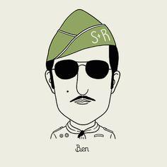O ilustrador colombiano Alejandro Giraldo criou uma série de ilustrações com os principais personagens de Wes Anderson. Confira!