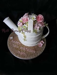 Two six inch round cakes. Garden Theme Cake, Garden Cakes, Diamond Wedding Anniversary Cake, Elegant Wedding, Floral Wedding, Cake In A Can, Cake Cookies, Cupcakes, Cactus