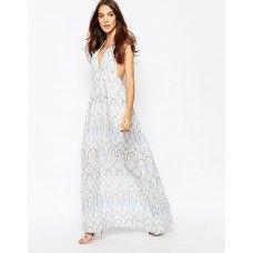 BCBGMAXAZRIA Maxi Dress in Crochet Lace
