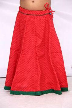 Indian Girls Kids 100 Cotton Mini Skirts Long Skirts Block Printed Ethnic | eBay