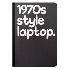 1970s Style Laptop Notebook