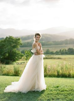 Outdoor Summer Bridal Portrait Session - #bridalportraits #farm #weddinggowns