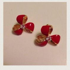 Earrings/ribbon /bow earrings /bows  bow ties Earrings/ribbon /bow earrings /bows  bow ties   ( color :red/gold)  New with tags I ship daily  No trades   Category: Clover / ribbon / bow / bow earrings / cheer / studs / red bow / charm     pierced earrings                                                              #ribbon #ribbons #ribbon #bow #earrings Reddmerge Jewelry Earrings