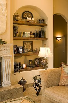 If you are having difficulty making a decision about a home decorating theme, tuscan style is a great home decorating idea. Many homeowners are attracted to the tuscan style because it combines sub… House Design, Tuscan House, Interior, Home Decor, House Interior, Tuscan Decorating, Mediterranean Home Decor, Niche Decor, Rustic Interiors