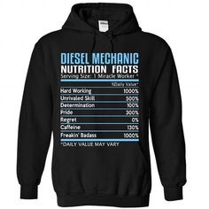Diesel Mechanic Nutrition Facts T Shirts, Hoodies. Check price ==► https://www.sunfrog.com/Automotive/Diesel-Mechanic-Nutrition-Facts-4998-Black-Hoodie.html?41382 $38.99