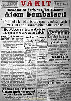 vakit gazetesi 7 ağustos 1945