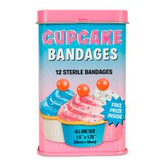 Cupcake Adhesive Bandages (69 ARS) ❤ liked on Polyvore featuring accessories, fillers, more stuff, novelties, other and women