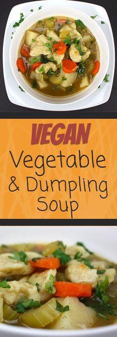 Vegetable Dumpling Soup - This soup is packed with flavor! It screams vegetarian comfort food!