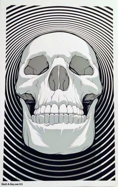 "[CONTEST] Win a ""Skull with Concentric Circles"" Print from Paul Johns"