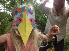 A birthday girl having great fun at one of Art In Hands Mask Making Art Parties. www.artinhand.co.uk