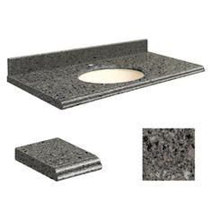 Transolid�Canterbury Stone Quartz Undermount Single Sink Bathroom Vanity Top (Common: 37-in x 22-in; Actual: 37-in x 22-in)