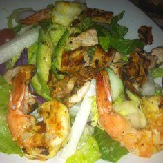 Grilled Chicken and shrimp salad.  #foodspotting #grilledchicken #latinfood