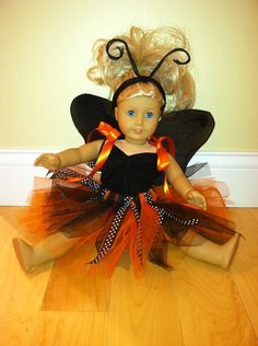 Homemade Monarch Butterfly Halloween Costume for American Girl Doll