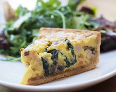A Healthy Quiche and Side Salad for Powerful Start to Your Travel Day