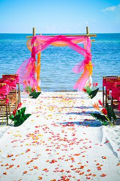 Passion romantic colorful Key West wedding package