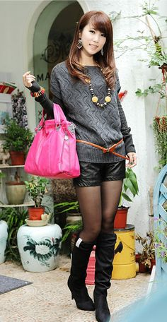 Fashion Boat Neck Short Sleeve Knitting Sweater - BuyTrends.com