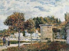 Watering place in Marly by Sisley