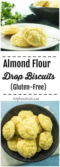 Low Unwanted Fat Cooking For Weightloss Almond Flour Drop Biscuits Are Super Easy To Prepare, Fluffy and Perfect For Breakfast, Snack, Or A Side With Any Meal. Gluten Free and Vegetarian. Almond Flour Biscuits, Almond Flour Bread, Almond Flour Cookies, Baking With Almond Flour, Gluten Free Biscuits, Keto Biscuits, Almond Flour Recipes, Baking Flour, Coconut Flour