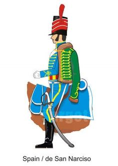 Húsares de San Narciso 1808 Lead Soldiers, Toy Soldiers, Uniform Insignia, French Revolution, Spain And Portugal, Napoleonic Wars, Marines, Spanish, Childhood