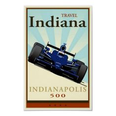 Travel Indiana Poster- love this