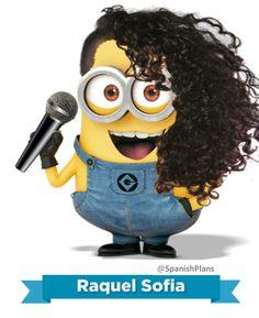 Minion Raquel Sofia #canciones #actividades