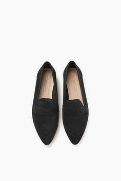 Esprit / Loafers i ruggad mocka