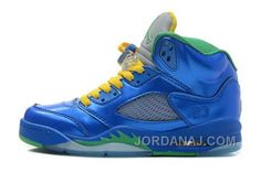 http://www.jordanaj.com/closeout-nike-air-jordan-v-5-retro-laney-mens-shoes-blue-yellow.html CLOSEOUT NIKE AIR JORDAN V 5 RETRO LANEY MENS SHOES BLUE YELLOW Only 87.81€ , Free Shipping!