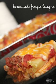 Homemade Freezer Lasagna Recipe from Scratch for a Holiday meal or quick dinner idea! Homemade Comfort Food for Fall and Winter!