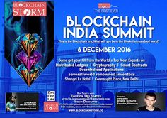 India Hosts its First Ever #BlockchainSummit on 6 Dec 2016 with Vitalik Buterin - by Fintech Storm