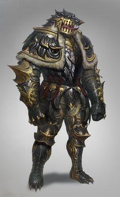 ArtStation - wolf armor, sueng hoon woo