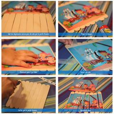 puzzle palitos helado Fun Crafts For Kids, Craft Stick Crafts, Projects For Kids, Diy For Kids, Kindergarten Activities, Preschool Activities, Busy Boxes, Teaching Aids, Recycled Crafts