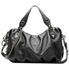 Black Rivet Faux Leather Top Handle Tote Handbag, Brand New Shoulder Bag Hobo Purse for Girls