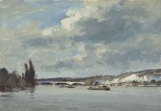 Edward Seago | France - The Seine near Mantes, oil